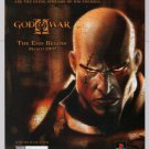 GOD OF WAR II video game PRINT AD PlayStation PS2 advertisement 2006