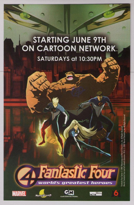 FANTASTIC FOUR animated series PRINT AD Cartoon Network advertisement 2007