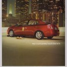NISSAN Sentra PRINT AD automobile car downtown cityscape advertisement 2006