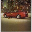 NISSAN Sentra PRINT AD automobile car downtown cityscape advertisement 2006