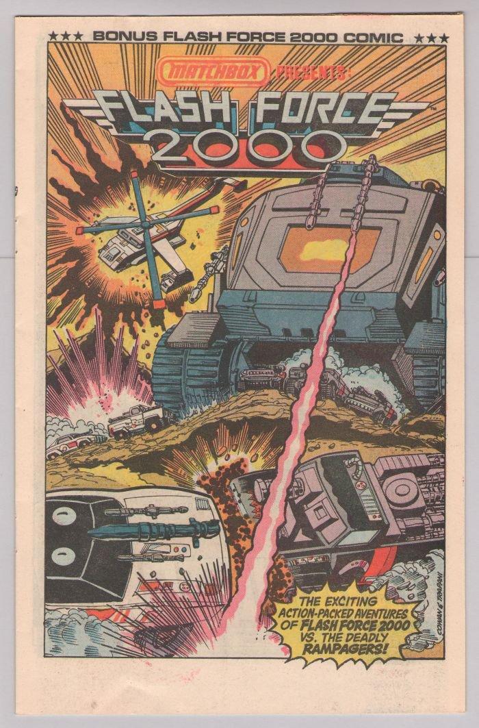 MATCHBOX Flash Force 2000 PRINT AD toys comic book insert advertisement 1984