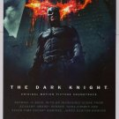 DARK KNIGHT Christian Bale Batman soundtrack PRINT AD advertisement 2008