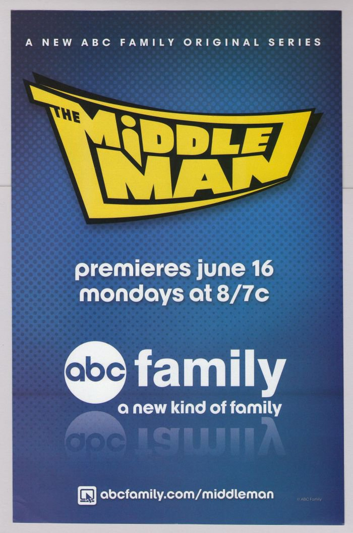THE MIDDLEMAN tv series PRINT AD television show ABC Family advertisement 2008