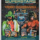 WWF SUPERSTARS wrestling Randy Savage '90s PRINT AD video game advertisement 1992