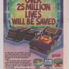 Game Genie '90s PRINT AD video game enhancer Galoob advertisement 1991