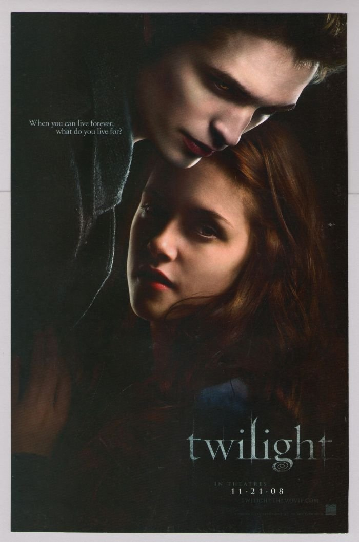 TWILIGHT Robert Pattinson, Kristen Stewart movie promo PRINT AD film advertisement vampire 2008