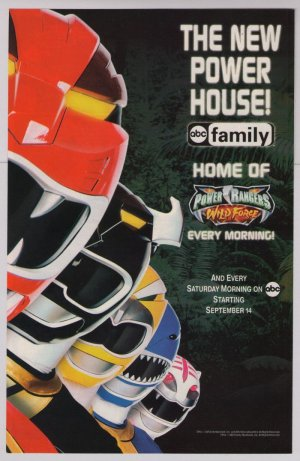 Power Rangers Wild Force PRINT AD kids tv series ABC Family 2002