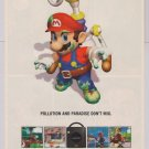 Super Mario Sunshine PRINT AD video game Nintendo GameCube advertisement 2002