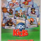 ABC Kids TV Power Rangers, Kim Possible, Recess, Teamo Supremo cartoon print ad 2002