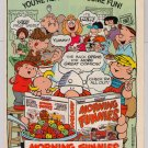 Morning Funnies Cereal '80s PRINT AD comic strip characters Ralston advertisement 1989