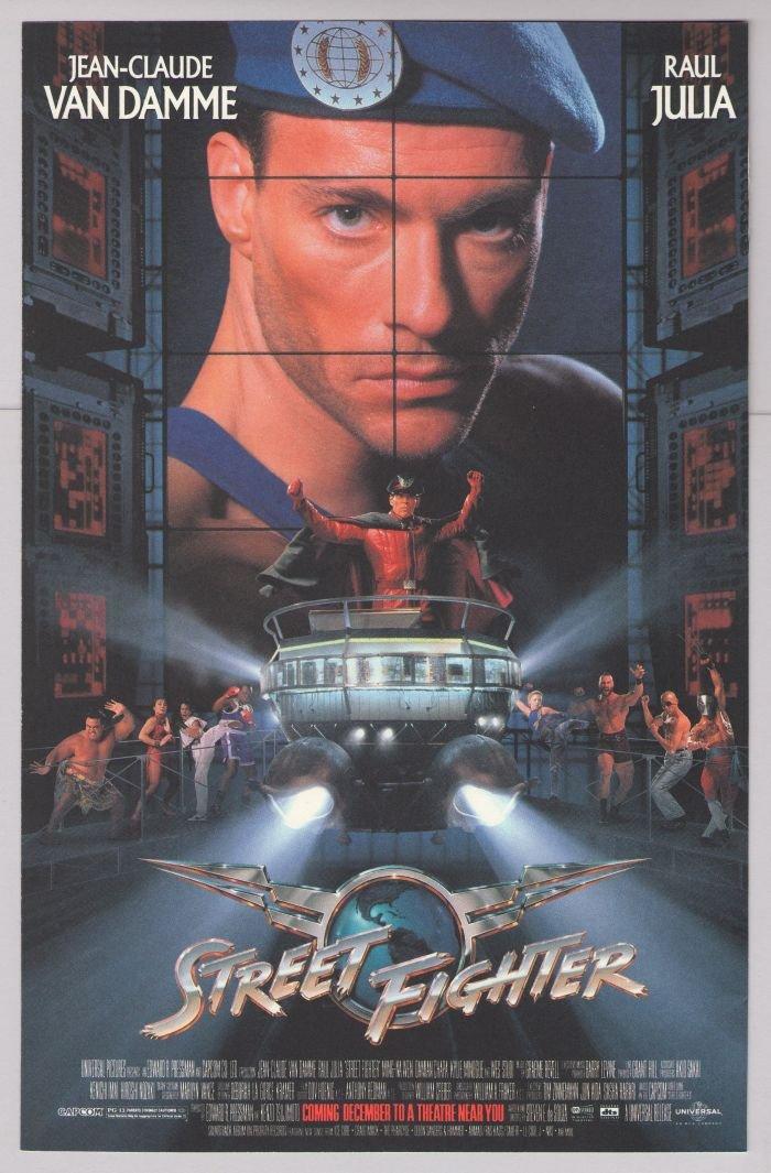 STREET FIGHTER Jean-Claude Van Damme '90s PRINT AD Raul Julia movie advertisement 1994