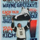 WAYNE GRETZKY Street Hockey Shoes '90s PRINT AD LA Gear advertisement funny 1995
