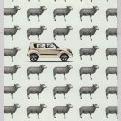 KIA SOUL sheep PRINT AD automobile car advertisement 2010
