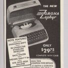 CORONA ZEPHYR typewriter &#39;40s PRINT AD vintage advertisement 1940