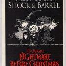 Nightmare Before Christmas PRINT AD Meet Lock Shock & Barrel Tim Burton movie ad 1993