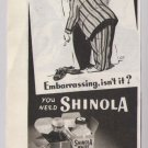 Shinola '40s PRINT AD shoe shine vintage cartoon advertisement 1948