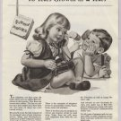 Bell Telephone '40s PRINT AD children with phone vintage telecommunications advertisement 1948