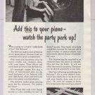 Solovox '40s PRINT AD Hammond organ piano party vintage advertisement 1948