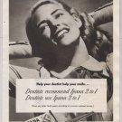 IPANA toothpaste '40s PRINT AD woman posing Bristol-Myers vintage advertisement 1948