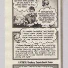 COLGATE Dental Cream '40s old PRINT AD toothpaste - man confides in pig - vintage ad 1948
