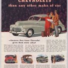 "Chevrolet '40s old PRINT AD automobile car bellboy ""More people drive"" Chevy vintage ad GM 1948"