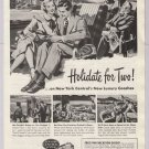New York Central '40s PRINT AD passenger train - Holidate for Two - vintage advertisement 1948