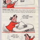 KLEENEX tissue Little Lulu '40s old PRINT AD Marge vintage advertisement 1948
