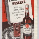 Park & Tilford Reserve whiskey &#39;40s old PRINT AD sepia P&T vintage advertisement 1948