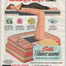 Serta mattress '40s PRINT AD sleeping woman sexy black negligee vintage advertisement 1948