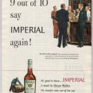 Imperial Whiskey '40s old PRINT AD bar scene, men in suits Hiram Walker vintage advertisement 1948