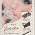 Maybelline Eye Shadow '40s old PRINT AD makeup glamour make-up vintage advertisement 1940