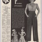 Jane Wyman '40s old PRINT AD fashion slack suit pants vintage advertisement 1940