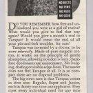 Tampax tampons '40s old PRINT AD woman in sun hat feminine hygiene vintage advertisement 1940