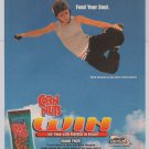 Corn Nuts skater Fabiola DaSilva PRINT AD extreme sports advertisement 2001