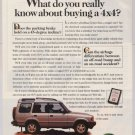 1997 Land Rover Discovery '90s PRINT AD automobile car 4x4 advertisement