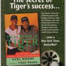 Tiger Woods book '90s PRINT AD Earl Woods 'Training a Tiger' golf advertisement 1997