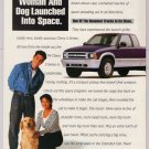 1994 Chevy S-Series pickup truck &#39;90s 2-page PRINT AD automobile advertisement purple 1993