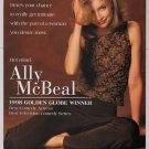 Calista Flockhart '90s PRINT AD Ally McBeal playful pose FOX television print ad advertisement 1998