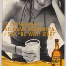Jose Cuervo tequila PRINT AD sexy woman margarita advertisement 2000