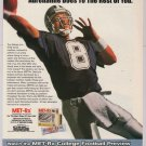 MET-Rx Troy Aikman '90s PRINT AD Dallas Cowboys advertisement 1998
