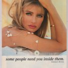 PETA organ donor '90s PRINT AD Kimberley Hefner Playboy model advertisement 1995