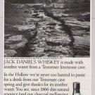 Jack Daniel's whiskey '90s PRINT AD limestone cave alcohol advertisement Jack Daniels 1997