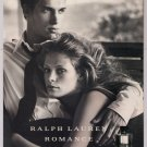 Ralph Lauren Romance for Men PRINT AD cologne fragrance advertisement 2001
