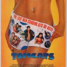 TOMCATS movie PRINT AD Shannon Elizabeth - woman in boxers - film advertisement 2001