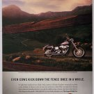 Harley-Davidson PRINT AD motorcycle landscape photo advertisement 2001