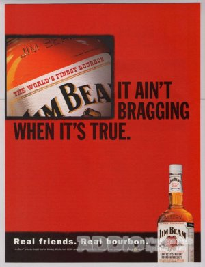 Jim Beam whiskey PRINT AD alcohol liquor advertisement 2001