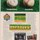ESPN Baseball Tonight video game '90s PRINT AD Sega SNES advertisement 1994