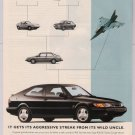 Saab 900 SE Turbo Coupe '90s PRINT AD automobile car advertisement 1994