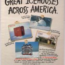 Icehouse beer '90s PRINT AD ice house postcards alcohol advertisement 1994