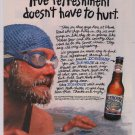 Icehouse beer '90s PRINT AD polar bear club swimmer alcohol advertisement 1995